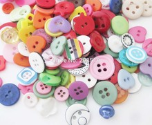 50Gram/pack Assorted Colors Mixed Pattens Resin Scrapbooking Buttons For DIY Decoration Paper Craft Sewing supplies