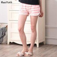 RenYvtil womens pajama bottoms comfortable cotton sleep shorts Loose Summer Thin striped pants women sexy pijama femme new