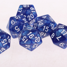 20 Pieces Twenty Sided Dice D20 Playing D&D RPG Party Games Boards Game Dices Entertainment Tools Blue + Purple