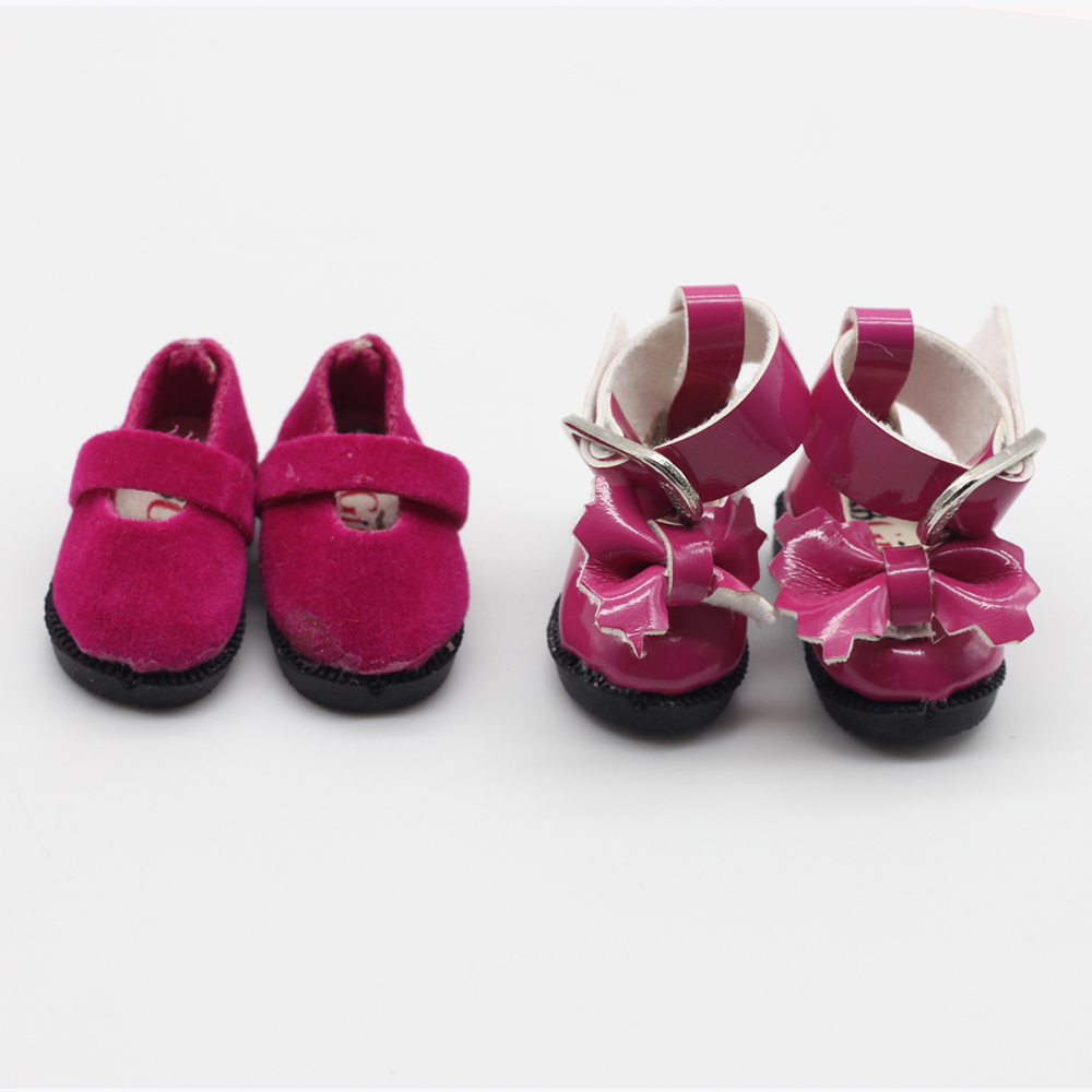 1 Pair 3.2cm rosy doll shoes for Blythe BJD 1/6 1/8 Licca Jb Doll Mini Shoes et006 uncle 1 3 1 4 1 6 doll accessories for bjd sd bjd eyelashes for doll 1 pair tx 03