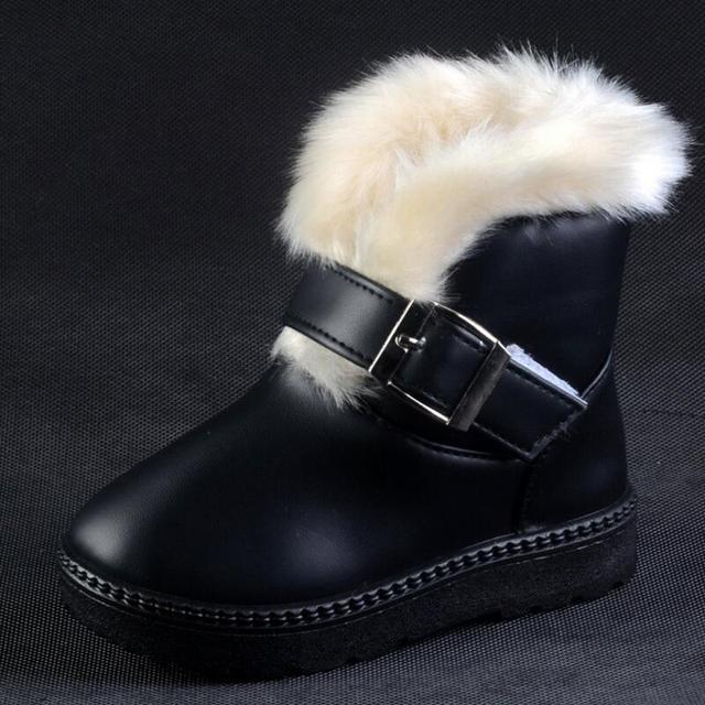 2016 New Girl HOT Boy Zapatillas de deporte de Los Niños Botas de Nieve Espesa el Invierno Niños Para Bebés y Niños de 4 colores