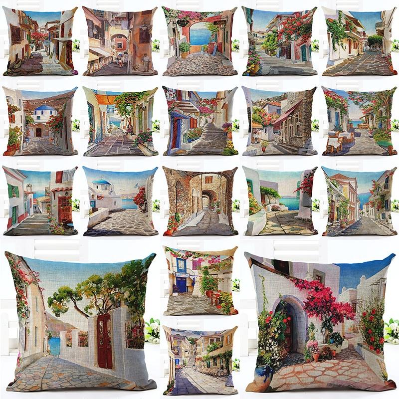 2016 Sıcak Satış Amerikan Şehir Ev Dekoratif Kanepe Yastık Atmak - Ev Tekstili