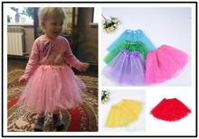 baby girls kids ballet dance skirt mesh pink tutu skirts shiny star pettiskirts sparkle girl petticoats performance Costumes недорого