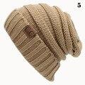 Unisex Hombres de Las Mujeres de Lana de Tejer Sombreros Nieve Tapas Tapa Ocasional Unisex Crochet Gorros Gorras Moda Ocio Al Aire Libre Sombrero Caliente Gorros