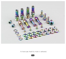 STAN TI Mtb Bike V Brake Bolts Kit Titanium -Brake Nuts
