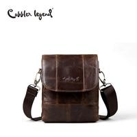 Cobbler Legend Original Real Cowhide Leather Men Bag For Man 2017 New vintage Style Men's Mini Cross Body Shoulder Bags #911048