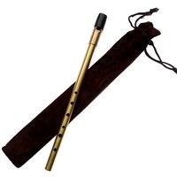 New Brass Irish 6 Holes Whistle Treble D Flute Feadog Tin Whistle Metal Pocket Feadan Musical Instrument Traditional Flauta