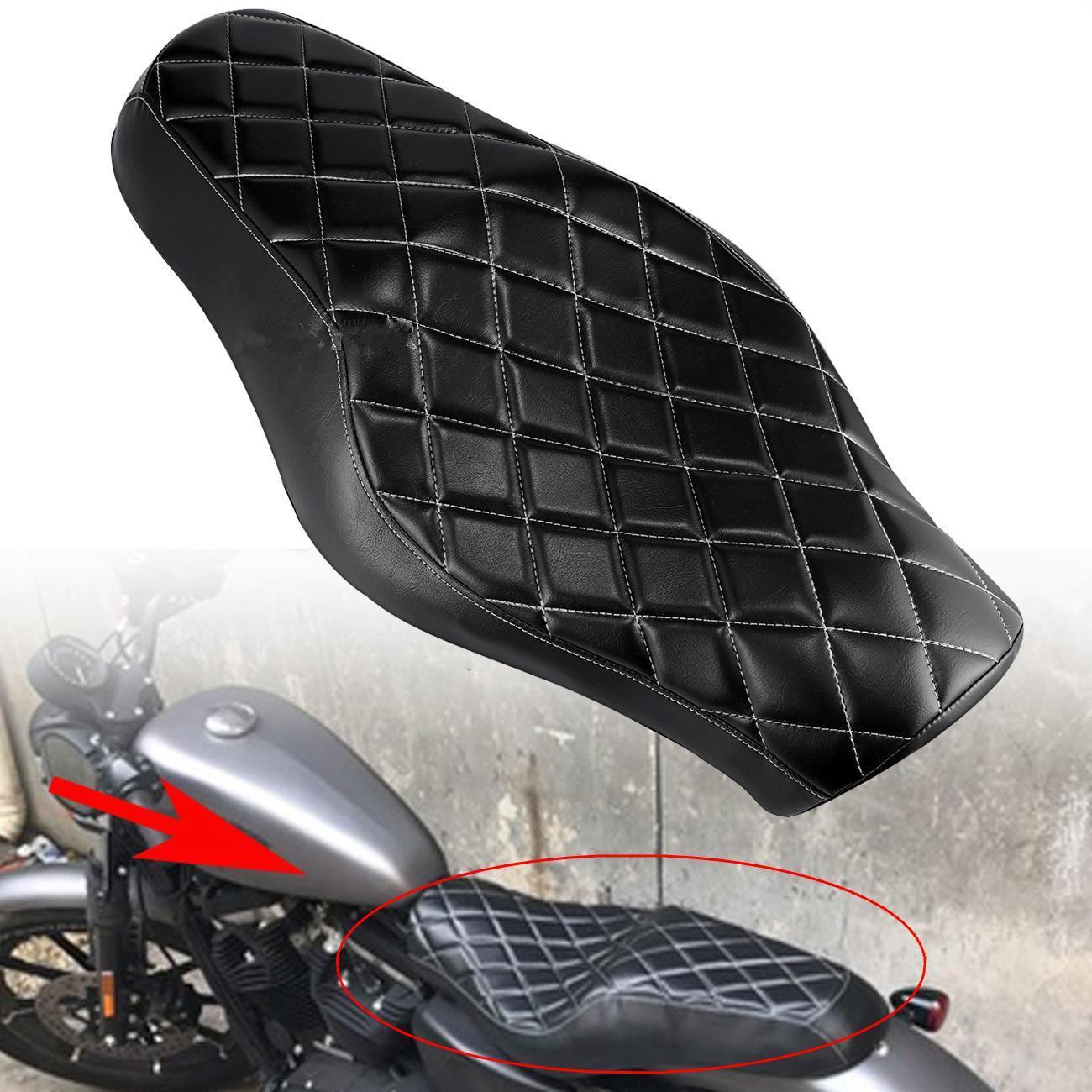 Two-Up Rider+Passenger Seat Cushion Pillion For Harley SuperLow 1200T 2014-2016