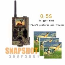 Fulled de tecnología Digital de Caza Cámara del Rastro de la Fauna de La Cámara Trampa GPRS MMS IR 12MP 1080 P HD de Visión Nocturna Caza cámara HC-300M
