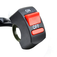 EAFC Universal Motorcycle Handlebar Flameout Switch ON OFF Button for Moto Motor ATV Bike DC12V/10A Black 5