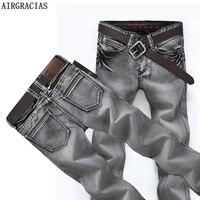AIRGRACIAS Men S Fashion Brand Designer Biker Jeans Men Retro Moto Denim Washed Pleated Jean Pants