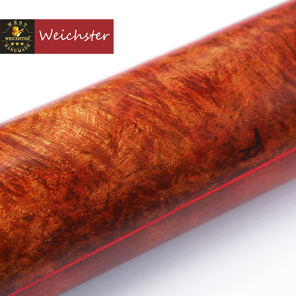 Weichster One 1Piece Handmade English Pool Cue Eucalyptus Burl Wood 8 0mm 8 5mm Ebony Cue with Case Set in Snooker Billiard Cues from Sports Entertainment
