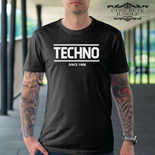 TECHNO T SHIRT TECHNO SINCE 1988 MUSIC RAVE FESTIVAL TEE New T Shirts Funny Tops Tee New Unisex Funny Tops free shipping все цены