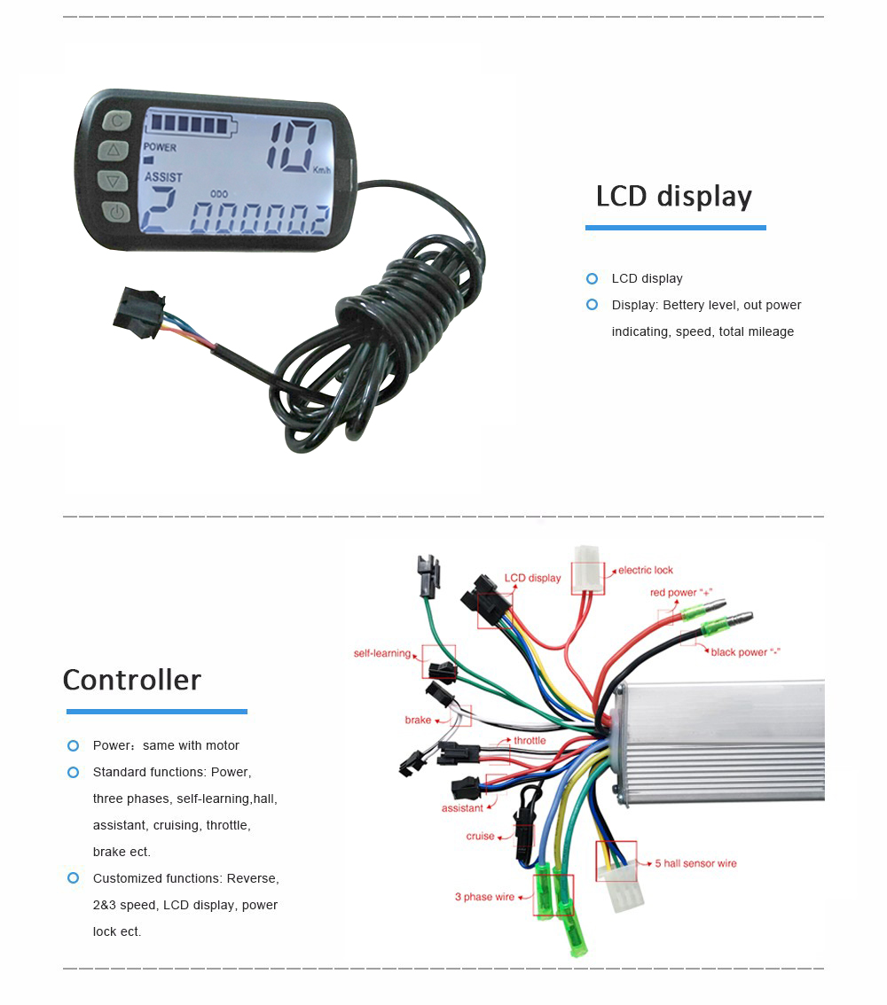 Electric Bicycle Motor 10 Inch 48v 350w 800w 12 50km H Hub Kit 36v Skateboard Wiring Diagram Getsubject Aeproductgetsubject