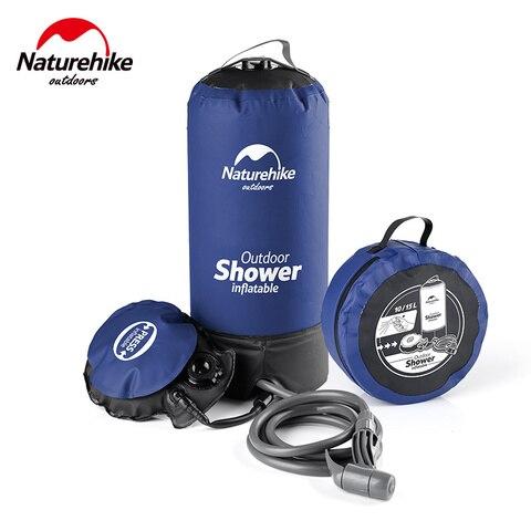 naturehike portatil chuveiro acampamento batheing 11l pvc chuveiro aquecedor de agua tenis para caminhada ao