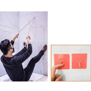 Image 5 - 2 pçs aço inoxidável gancho de parede gancho forte ventosa transparente 6*6cm forte pasta sem costura chave titular cozinha organizador