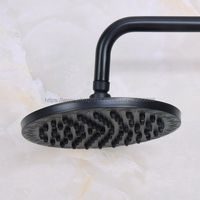 Black Oil Rubbed Brass Round 8 Bathroom Rain Shower Head Rainfall Bath Shower Top Sprayer Bsh200