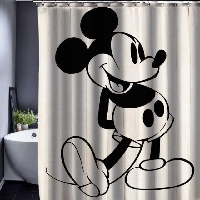 165x180 cm de bande dessin e bonjour kitty mickey motif rideau de douche personnalis rideau de - Rideau de douche minnie ...
