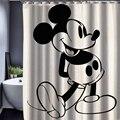 165x180 cm de Dibujos Animados Hello Kitty/Mickey Patrón Personalizado Tela Cortina de Ducha Impermeable Baño Cortina de Ducha Impermeable
