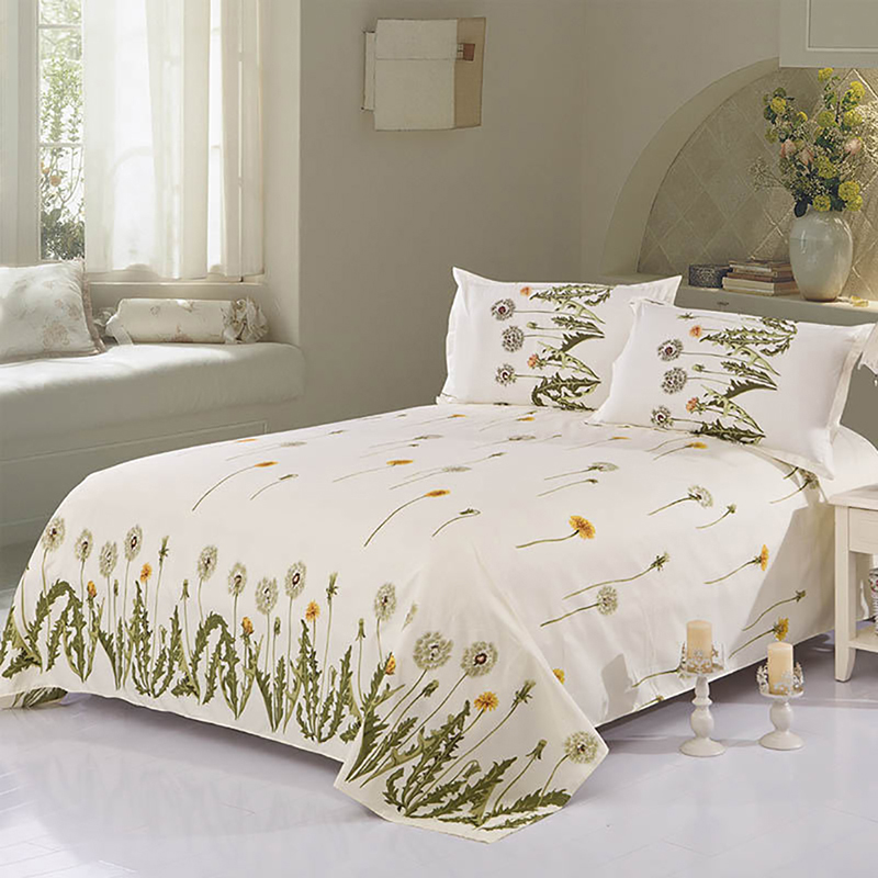 9 Patterns Flat Sheet Twin Full Queen King Comfort Cotton Mondern Bed Sheet Floral Color Fahion