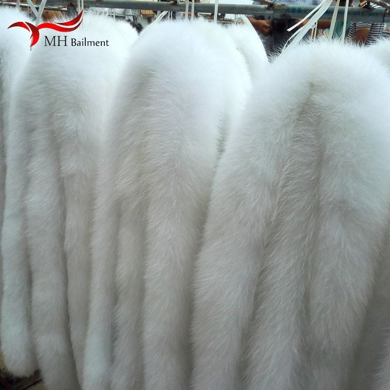 Fox Fur Collar Hat White Down Jacket Real Fox Fur Sweater Collar Winter Clothing Hat Collar Men And Women Warm Scarf Shawl