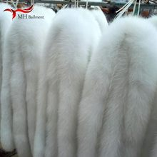 Fox fur collar hat white down jacket real fox fur sweater collar winter clothing hat collar men and women warm scarf shawl(China)