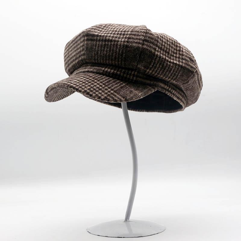 Fibonacci Fashion Wool Nylon Fabric Beret Octagonal Hat Man Women Cap  Striped French Artist Berets-in Berets from Apparel Accessories on  Aliexpress.com ... 3c6b3bca7f4