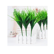 Plastic grass green  plant simulation artificial grass plants simulation grass fake grass for home decoration MA1504 цена
