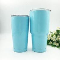 Cheap 5PCs 20oz 30oz Sky Blue Purple Red Beer Cooler Rambler Tumbler Water Bottle Mug Large