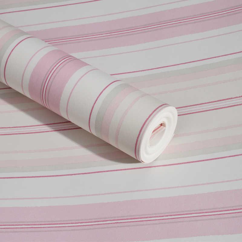 Blue Pink Vertical Stripes Kids Rooms Wallpaper Baby Boys ...