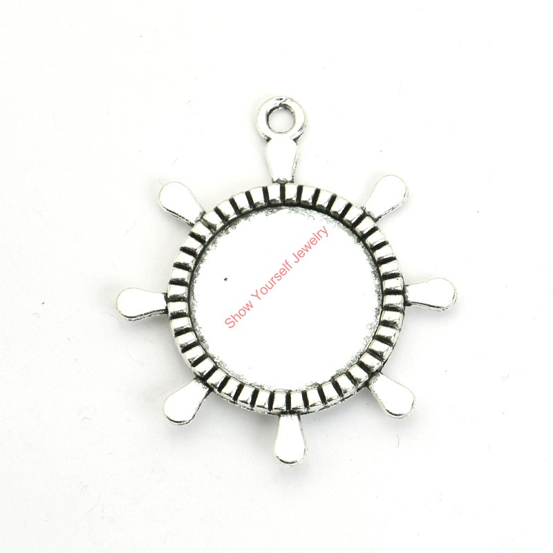 High quality makings photo charms buy cheap makings photo charms 12pcs antique silver plated rudder photo frame charms pendants for bracelet jewelry making diy necklace craft mozeypictures Gallery