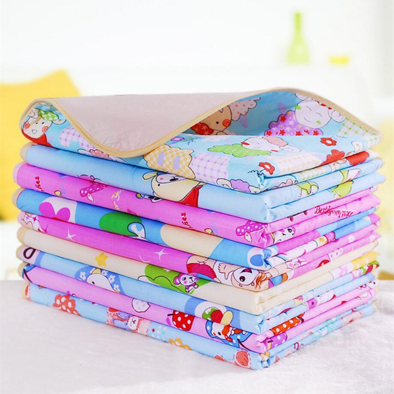 Reusable Baby Diapers Mattress Diapers for Newborns Random Pattern Linens Waterproof Sheet Changing Mat