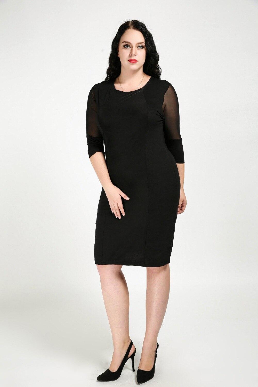 Frauen Sexy Oansatz Plus Größe Herbst Beiläufiges Kleid Quartale ...