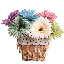 10 pcs/lot retro gerbera artificial daisy chrysanthemum bouquet silk flowers for farmhouse decor fake kwiaty sztuczne H0078