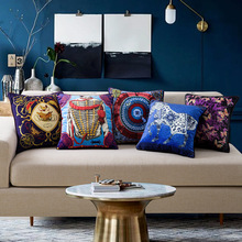 French European classical high-end pillowcase villa soft dress club model room decoration printing sofa cushion cover