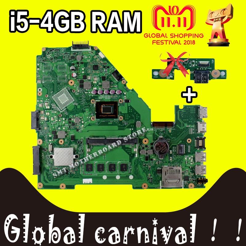 USB board +X550CC REV 2.0 i5-CPU 4GB RAm GM Motherboard For Asus Motherboard A550C R510C X550CC Y581C X552C X550CA Mainboard цена