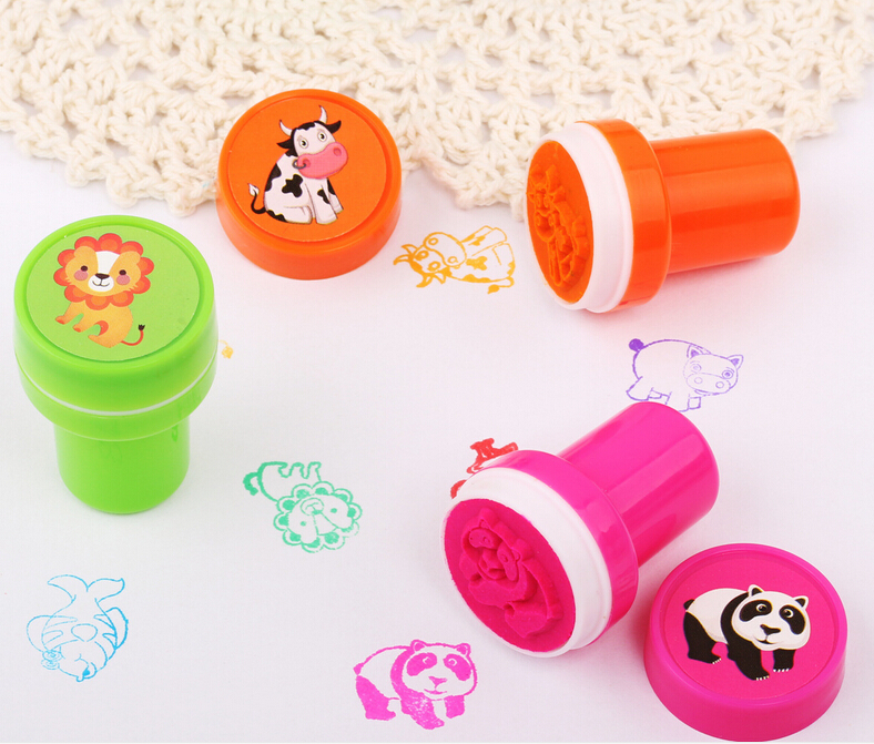 60PCS Self-ink Stamps Kids toy Party Favors Event Supplies for Birthday Gift Boy Girl Goody Bag Pinata Fillers Fun Stationery