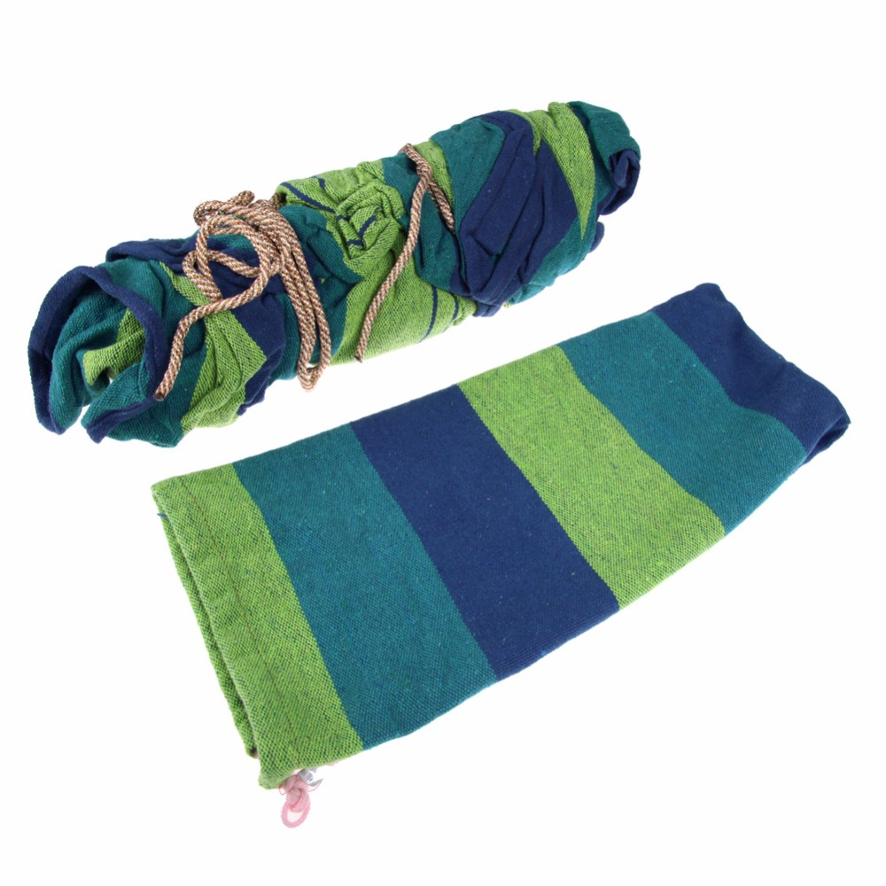 Canvas-Double-Spreader-Bar-Hammock-Outdoor-Camping-Swing-Hanging-Bed-Blue-Free-Shipping (2)