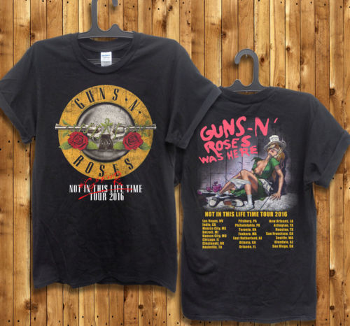 guns n roses t shirt men not in this lifetime 2016 gnr