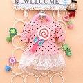 Otoño e invierno ropa niños niñas dress mesh & lace niños lollipop dot patrón de princesa dress