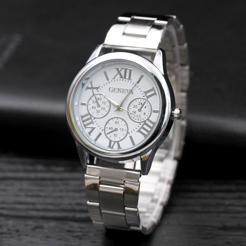 Reloj Mujer Hot Sale NewHigh Quality Women Quartz Sport Watches Silver Stainless Roman Numerals Lady Dress Watch Zegarek Damski