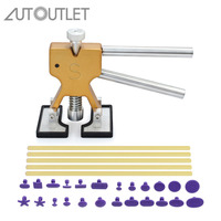 AUTOUTLET Universal Car Dent Repair Puller Kit 18 Tabs Hail Removal Tool Car Body Paintless Dent Lifter Repair Tool for Car Moto