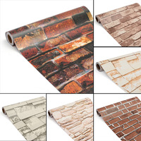 3D Brick Wall Paper Brick Stone Wallpaper Wall Stickers Self Adhesive Waterproof Wall Paper For Home