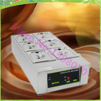 Free Shipping High Efficiency 6 Cell Chocolate Melting Pot Commercial Chocolate Electric Soup Machine
