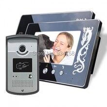 1V2 7 pulgadas TFT Color Digital LCD Monitor 1/3 CMOS impermeable cámara de visión nocturna Video teléfono de la puerta