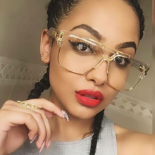 Oversize women Or Men sunglasses Brand designer UV400 Mirror Lady Clear transparent lens Sun Glasses Male Female Big Size