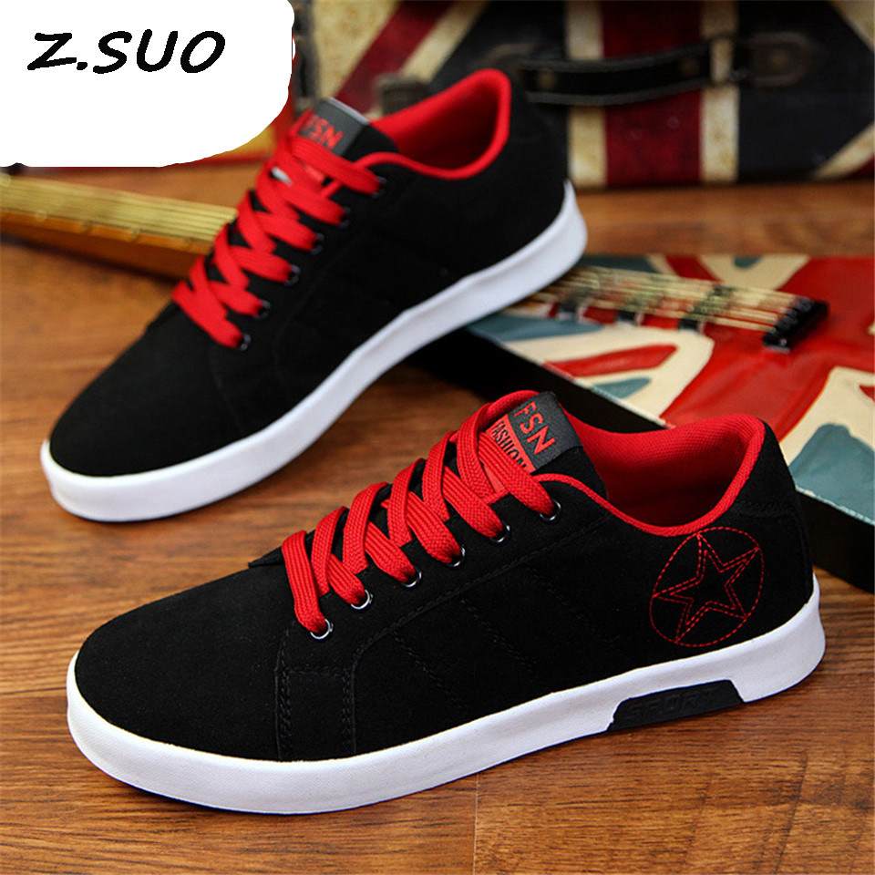 2018 Spring And Autumn New Breathable Anti-Skid Men'S Vulcanized shoes Fashion British Low Tie To Help Fight Men'S Shoes