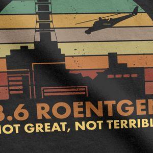 تشيرنوبيل محطة الطاقة النووية كارثة الإشعاع 3 6 رونتجن T قميص جديد وصول فريد تصميم جودة القطن t قميص