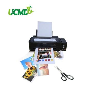 5 unids/lote A4 papel fotográfico magnético imprimible hoja imanes de nevera adhesivo de inyección de tinta imán imagen papel mate acabado Papel de impresora