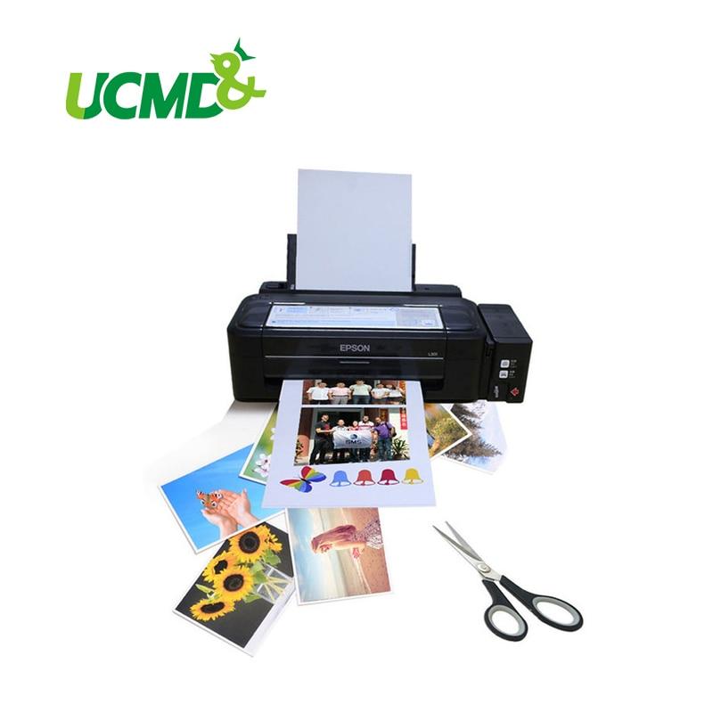 Papel impressora de geladeira magnética, folha impressora de papel com ímã para geladeira, inkjet, 5 pçs/lote a4